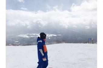 シーズン最後のスノーボード